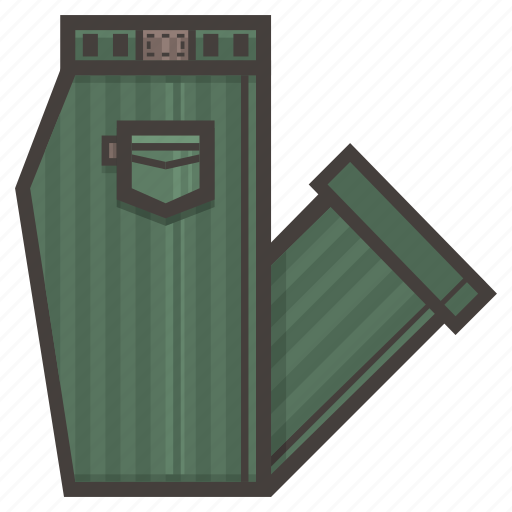 folded, green, pants icon
