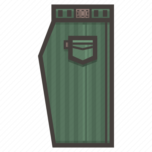 green, pants icon