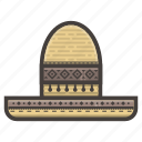 hat, mexican, sombrero icon