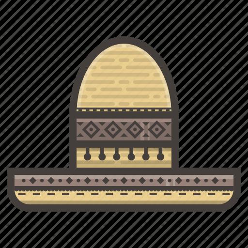 hat, mexican, sombrero icon