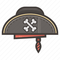 hat, pirate icon