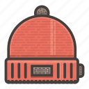 hat, red, winter icon