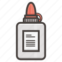 bottle, glue icon