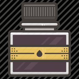 bottle, ink icon