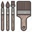 brushes, paint icon