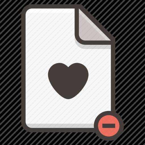 document, heart icon
