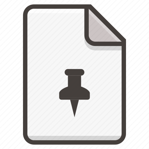 document, pin icon