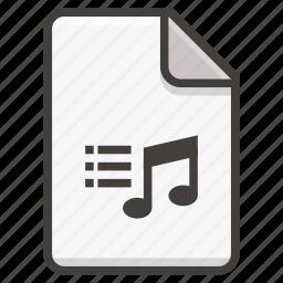 document, music icon
