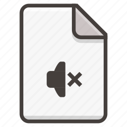 document, mute icon