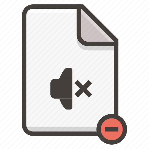 document, sound icon