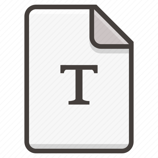 document, font, text icon