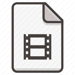 document, film, movie icon