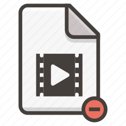 document, play icon