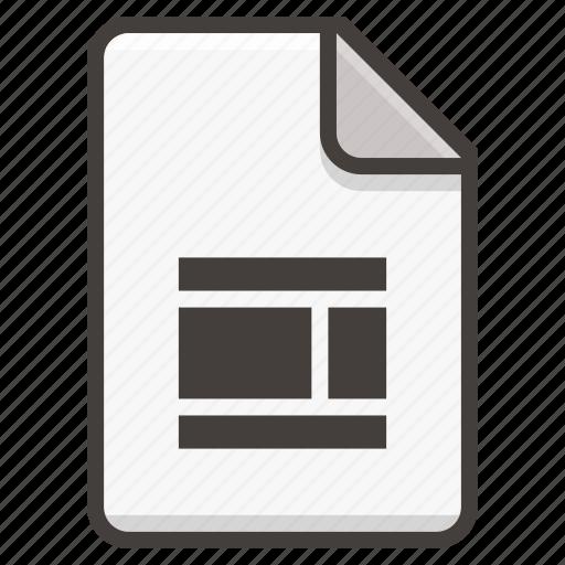 document, ui, web design icon