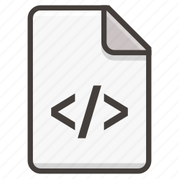 code, document icon
