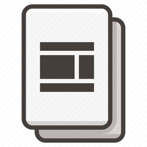 document, ui, web design icon