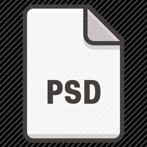 adobe, document, photoshop, psd icon
