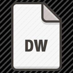 adobe, document, dreamweaver icon