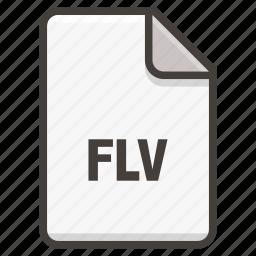 document, flash, flv icon