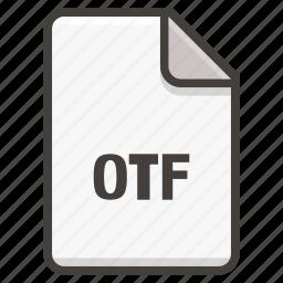 document, font, ttf icon