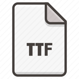 document, font, otf icon