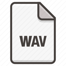 document, music, song, sound, wav icon