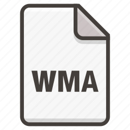 document, music, song, sound, wma icon