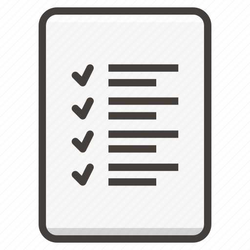 document, list icon