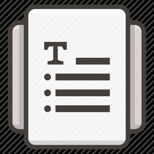document, files icon