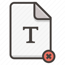 document, remove icon
