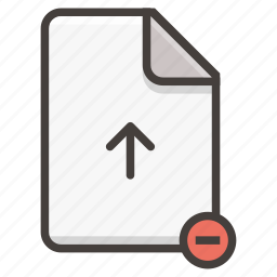 document, remove icon