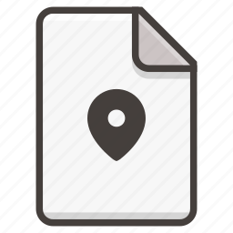 document, location icon