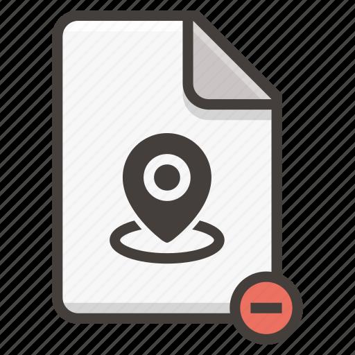 document, location icon