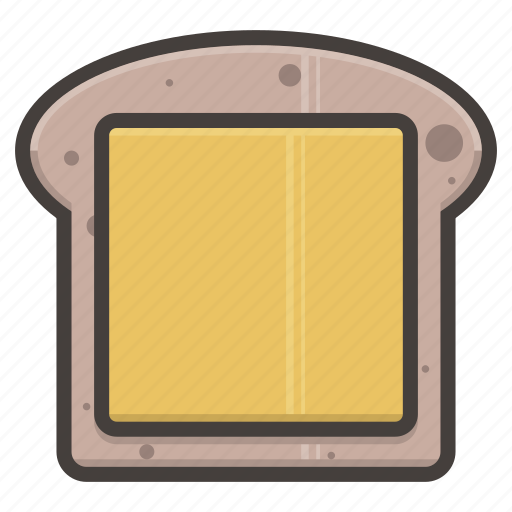 bread, cheese, slice icon