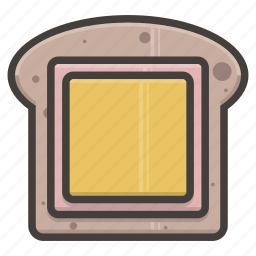 bread, cheese, slice icon