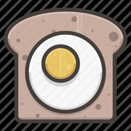 bread, egg, slice icon