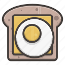 bread, cheese, egg, slice icon
