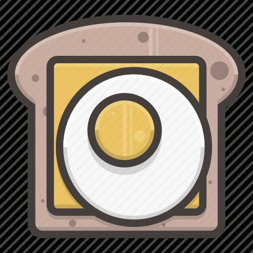 bread, cheese, egg, slice icon