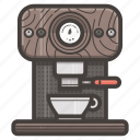 coffee, espresso, kitchen, machine icon