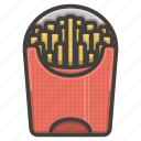 fast food, french, fries, potato icon