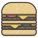 big mac, hamburger, kitchen, large icon