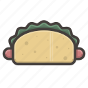 fast food, hotdog icon