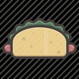 fast food, hotdog icon
