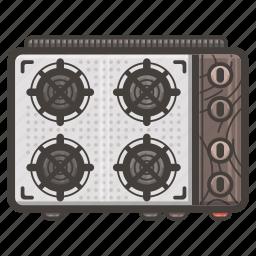kitchen, mini, stove icon