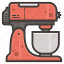 kitchen, mixer icon