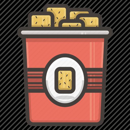 fast food, nachos icon