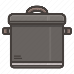 kitchen, pot icon
