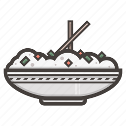 china, japan, rice icon