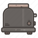 bread, kitchen, toaster icon