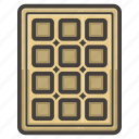 sweet, waffle icon